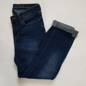 Gap Factory Skinny Roll Up Jeans